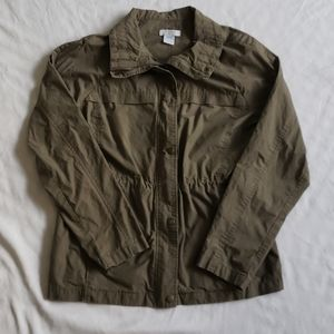 3/$20 Alfred sung light weight green jacket medium